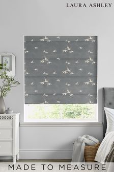 Laura Ashley Animalia Steel Made to Measure Roman Blind