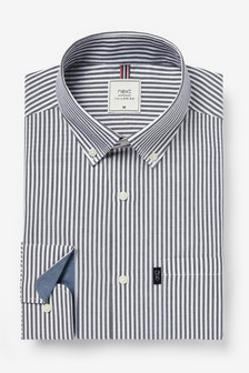 Dark Navy Slim Fit Single Cuff Easy Iron Button Down Oxford Shirt