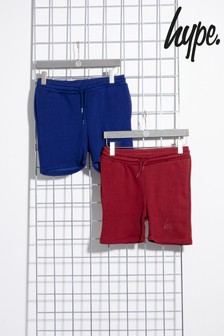Hype Navy/Burgundy Kids Shorts Two Pack