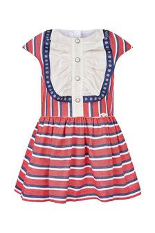 Miranda Girls Red Cotton Dress