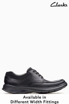 Clarks Wide Fit Black Cotrell Edge Shoe