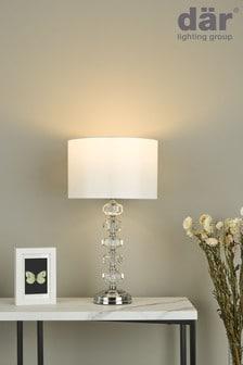 Dar Lighting Silver Oleana Table Lamp