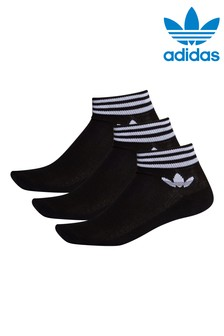 adidas Originals Adult Black Mid Cut Ankle Socks