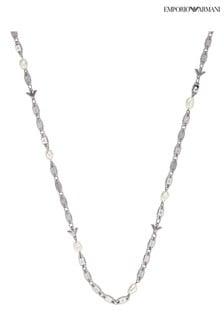 Emporio Armani Sterling Silver Essential Pearl Necklace