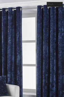 Verona Crushed Velvet Eyelet Curtains by Riva Home