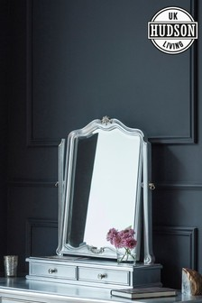 Hudson Living Chic Dressing Table Mirror With Drawers
