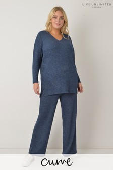Live Unlimited Curve Navy Lounge Trousers