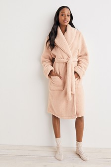 Honey Oat Natural Cosy Soft Teddy Dressing Gown