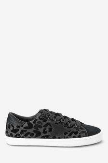 Black Forever Comfort® Star Lace-Up Trainers
