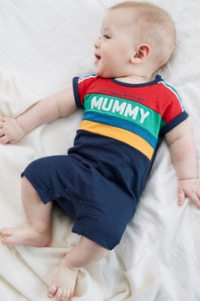 Stripe Mummy Single T-Shirt Romper (0mths-3yrs)