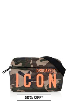 Kids Green Camouflage Belt Bag