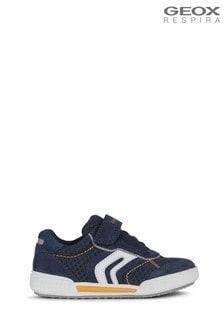 Geox Junior Boys Poseidon Navy/Orange Shoes