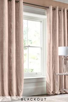 Crinkle Velvet Blackout Eyelet Curtains