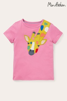 Boden Pink Appliqué Front And Back T-Shirt