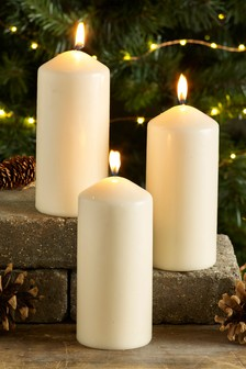 Set of 3 Pillar Candles