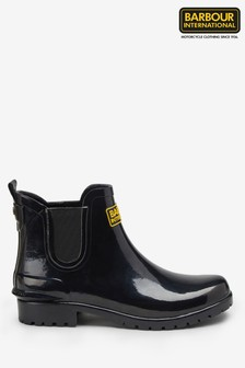Barbour® International Assen Chelsea Black Wellie