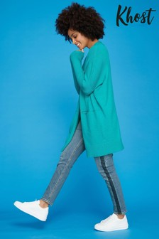 Khost Green Longline Cardigan