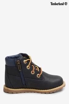 "Timberland® Navy Pokey Pine 6"" Boots"