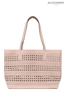 Accessorize Nude Punch Out Shopper Bag