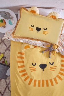 Bright Lion Duvet Cover and Pillowcase Set