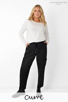 Live Unlimited Curve Black TENCEL™ Trousers