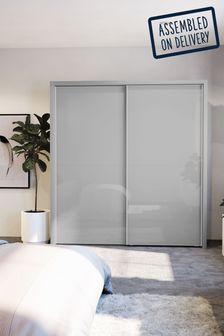 Glass Peyton Grey Extra Large Sliding Wardrobe