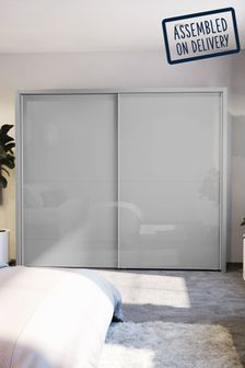 Glass Peyton Grey Large Sliding Wardrobe
