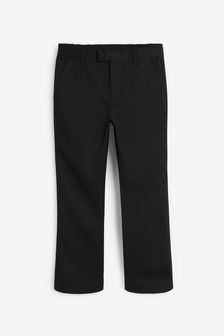 Black Plus Waist Formal Slim Leg Trousers (3-16yrs)