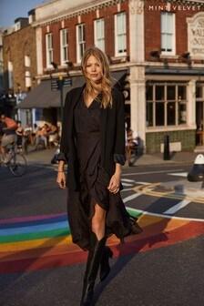 Mint Velvet Black Polka Dot Wrap Midi Dress