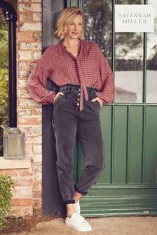 Savannah Miller Tapered Jeans