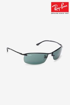 Ray-Ban® Black Visor Lens Sunglasses