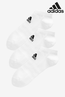 adidas Adult White Low Trainer Socks 3 Pack