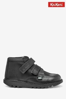 Kickers®Black Kick Scuff Hi Leather Boots