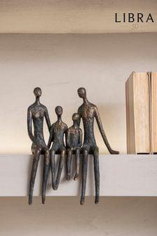 Libra Sitting Family Of Four Shelf Sculpture