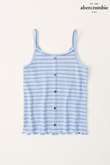 Abercrombie & Fitch Button Through Ribbed Pattern Cami