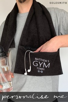 Personalised Zip Pocket Gym Towel by Solesmith