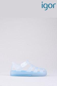 Igor Clear Tenis Mc White/Turquoise Sandals