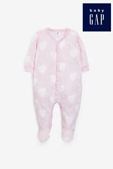 Gap Baby Heart Print Sleepsuit