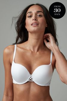 White Push Up Triple Boost Microfibre Mimi Plunge Bra