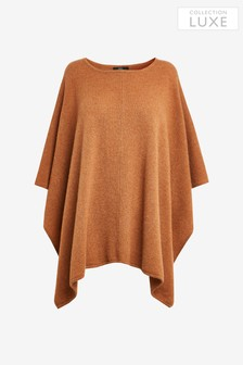 Ginger Cashmere Poncho