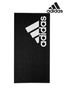 adidas Black Logo Towel