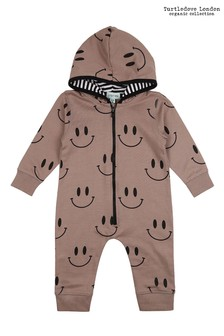 Turtledove London Smiley Outersuit Stone Romper