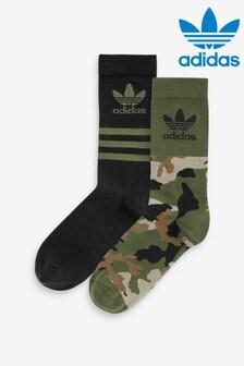 adidas Originals 2 Pack Camo Crew Socks