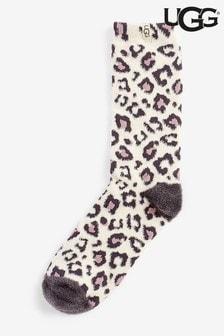 UGG Leopard Leslie Crew Socks