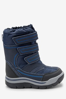 Navy Snow Boots (Younger)