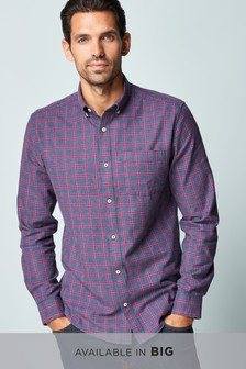 Red/Navy   Check Long Sleeve Shirt