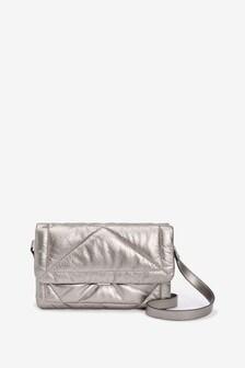 Metallic Quilted Across Body Bag