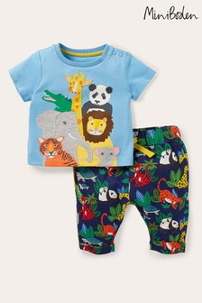 Boden Navy Fun Jersey Top/Bottoms Play Set
