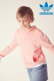 adidas Originals Pink 3 Stripe Overhead Hoody