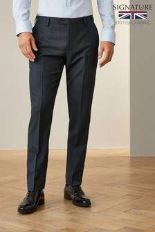 Blue Trousers Signature Puppytooth Slim Fit Suit